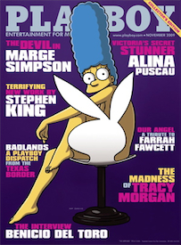 Marge Simpson in Playboy (2009)
